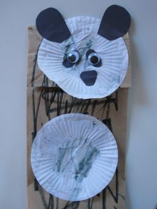 Paper Bag Panda Bear Puppet