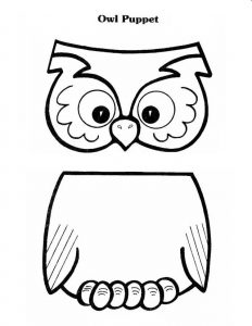 Paper Bag Puppet Pattern