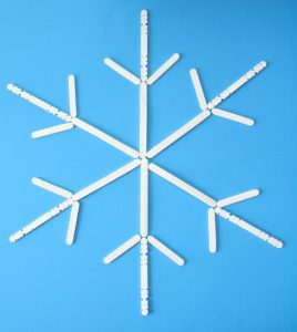 Popsicle Stick Snowflake Design
