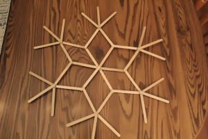 Popsicle Stick Snowflake Direction