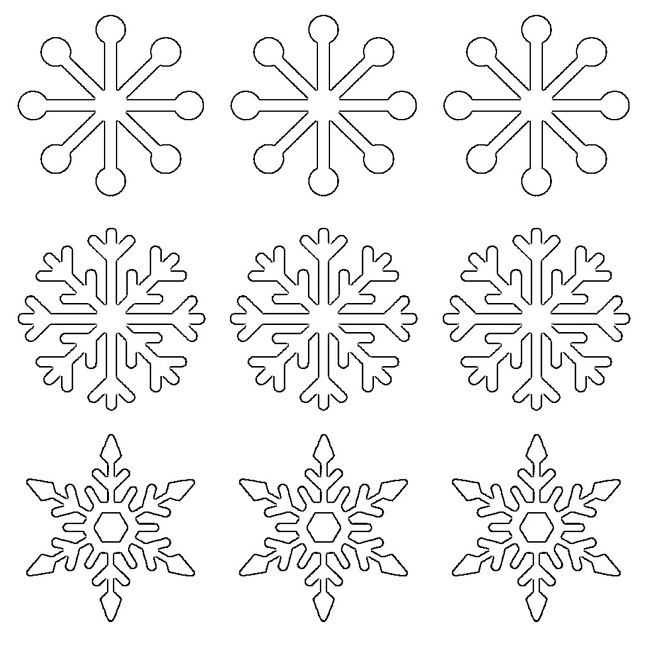 Kitchen Layout Templates 6 Different Designs: Popsicle Stick Snowflakes: 17 DIYs