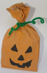 Pumpkin Paper Bag Puppet