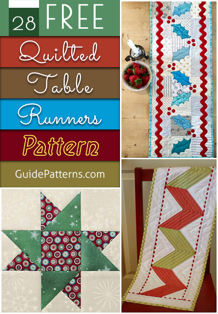 Brilliant 28 Free Quilted Table Runners Pattern Guide Patterns Home Remodeling Inspirations Propsscottssportslandcom