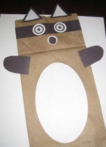 Raccoon Paper Bag Puppet