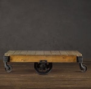 Rail Cart Coffee Table
