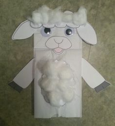 Sheep Paper Bag Puppet