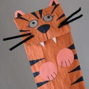 tiger puppet template - 59 paper bag puppets guide patterns