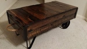 Trolley Cart Coffee Table