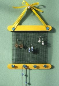 Wall Mount Earring Holder