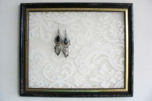 White Earring Holder