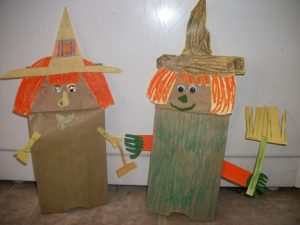 Witch Paper Bag Puppet