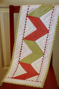 Zig Zag Quilted Table Runner