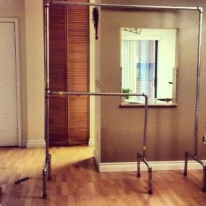 2 Tier Pipe Clothing Rack