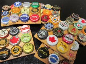 Beer Bottle Cap Coasters