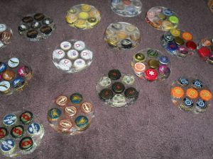 Beer Cap Coasters Resin