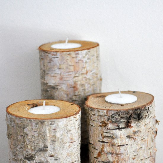 11 homemade log candle holders guide patterns for Log candles diy