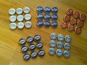 Bottle Cap Coaster Idea