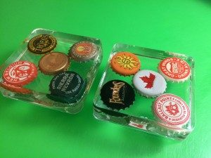 Bottle Cap Coasters Resin