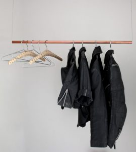 Brass Pipe Clothing Rack
