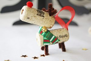Build Wine Cork Reindeer Ornament