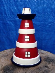 Clay Flower Pot Lighthouse