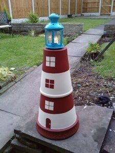 Clay Pot Lighthouse Craft