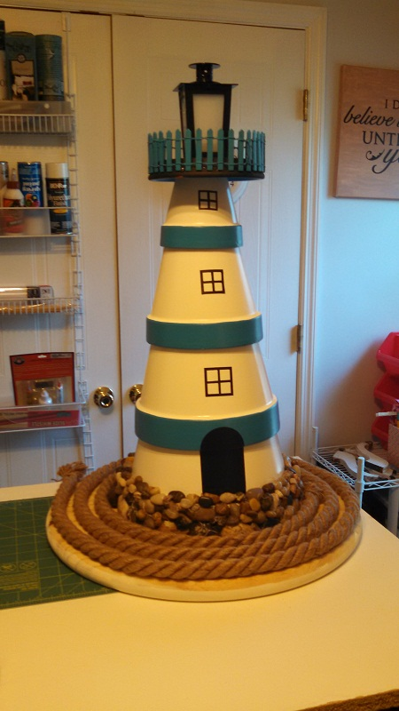 8 Simple Clay Pot Lighthouse Projects For Your Garden
