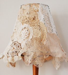 Doily Lampshade Tutorial