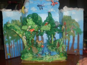 Forest Diorama in a Shoebox
