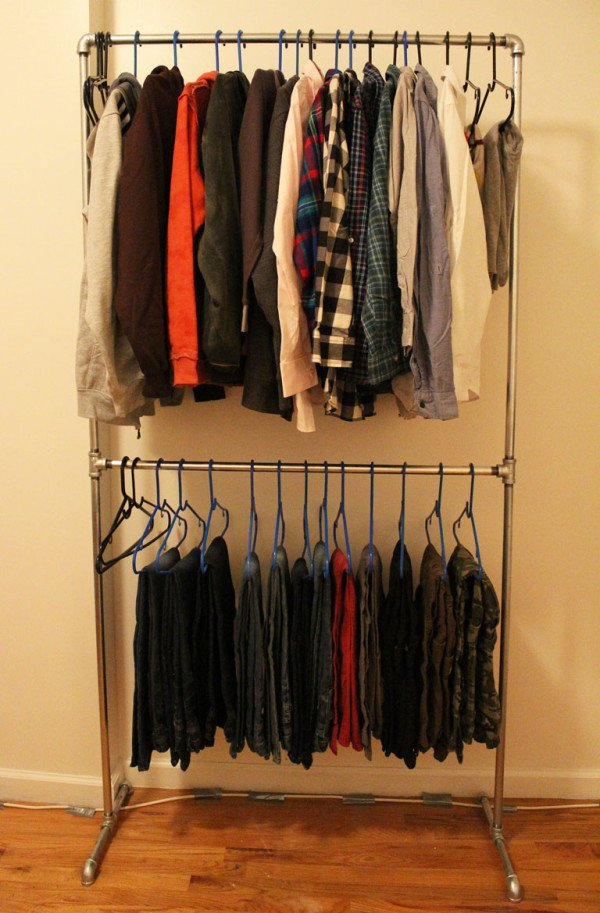 23 Pipe Clothing Rack DIY Tutorials