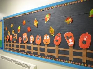Halloween Pumpkin Bulletin Board Idea