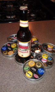 Homemade Beer Bottle Cap Coasters