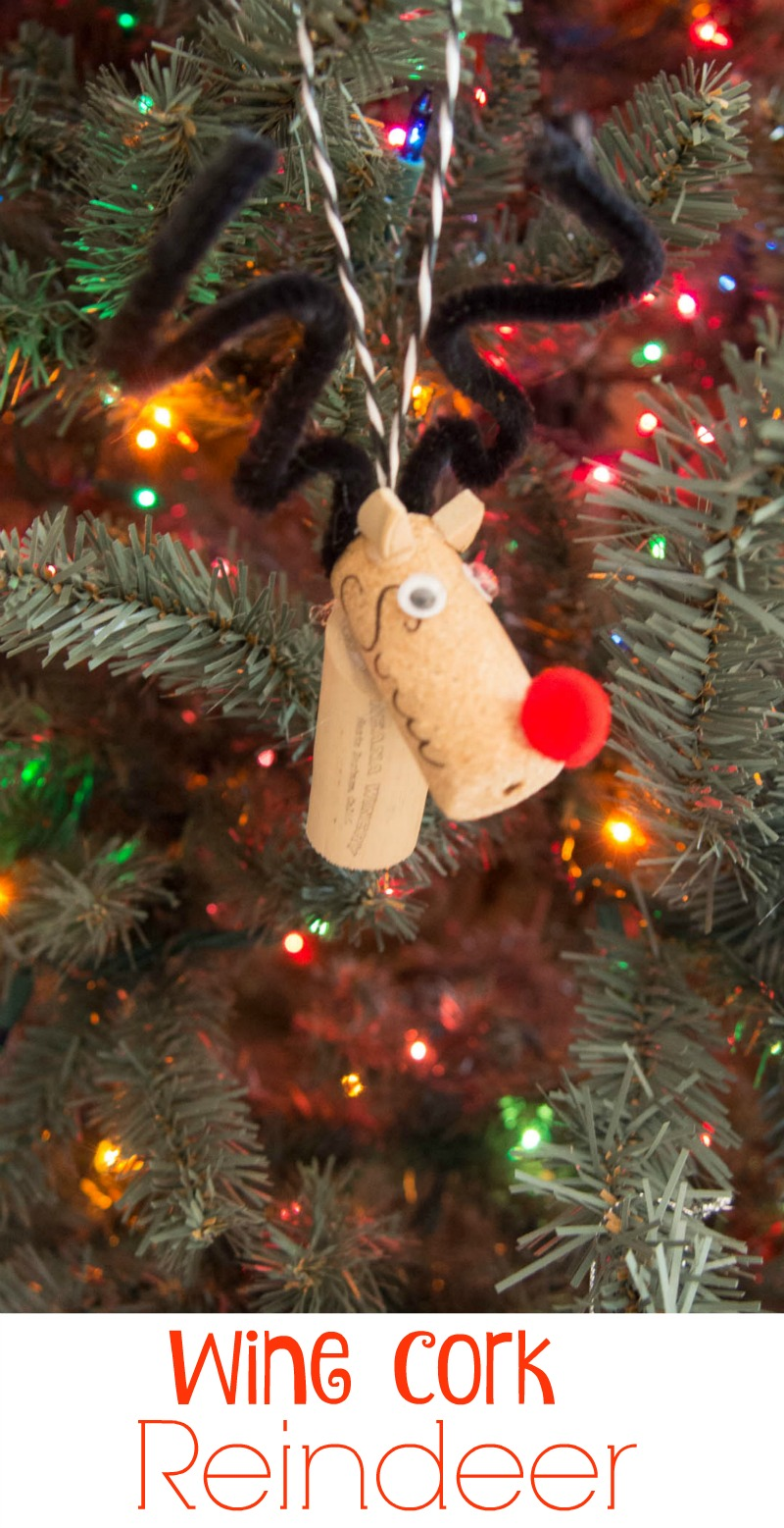 Ornaments made from wine corks - How To Make Wine Cork Reindeer Ornaments