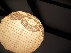 Lace Doily Lamp