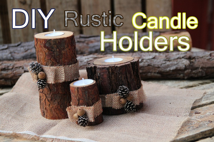 Log Candle Holder Centerpieces