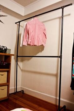23 Pipe Clothing Rack Diy Tutorials Guide Patterns