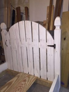 Painted Picket Fence Headboard