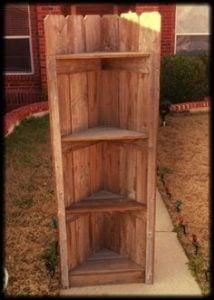Pallet Corner Bookcase
