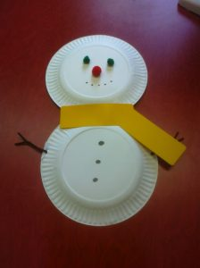 Paper Plate Snowman Craft for Preschoolers
