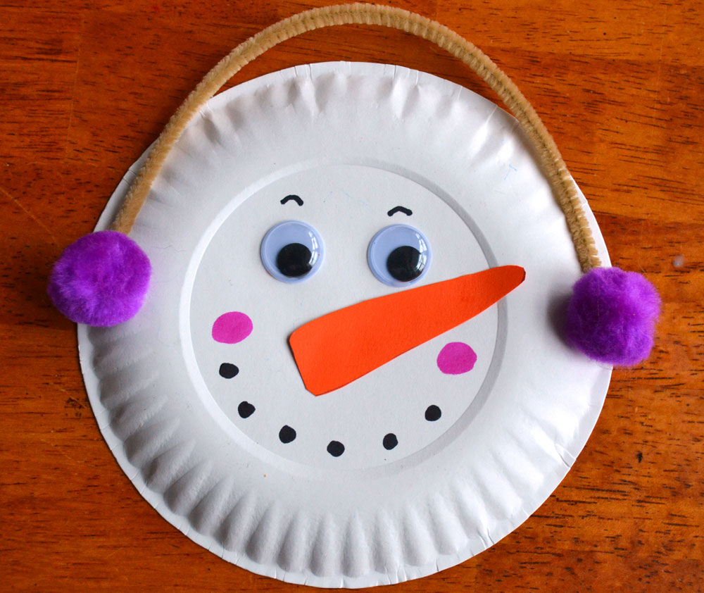 paper plate snowman Let's make a paper plate snowman craft this one will shine and sparkle just like it would if it were made out of real snow this one is perfect both as a christmas.