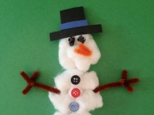 Paper Plate Snowmen with Cotton Balls & 21 Easy Paper Plate Snowman Ideas For Your Kids | Guide Patterns