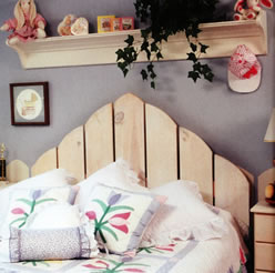 Picket Fence as Headboard