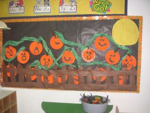 Pumpkin Bulletin Board Decoration