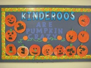 Pumpkin Bulletin Board Idea