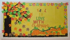 Pumpkin Bulletin Board Saying