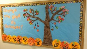 Pumpkin Patch Fall Bulletin Board Idea