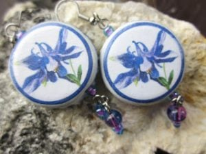 Recycled Bottle Cap Earrings