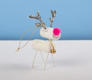 Reindeer Made Out of Wine Corks