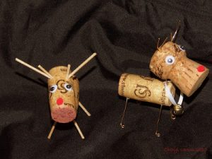 Reindeer Made from Wine Corks