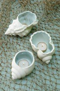 Seashell Candle Holder Idea